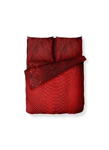Helen George Helen George Wow 200 X 220 Cm Çift Kişilik Desenli Pamuk Saten Nevresim Takımı Kırmızı